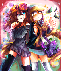 AA-Clarie and Minna by Andgofortheroll-123