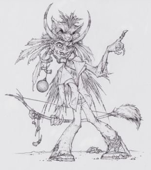Disco Zombie Witchdoctor by peetcooper