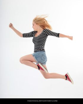 Jumping - Action Pose Reference 5 by faestock