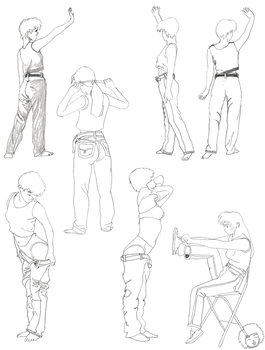 Gesture sketches by ciaranbenson