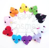 Heart Keychains by CosmiCosmos