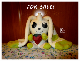 FOR SALE!! Terriermon plushie by Ishtar-Creations