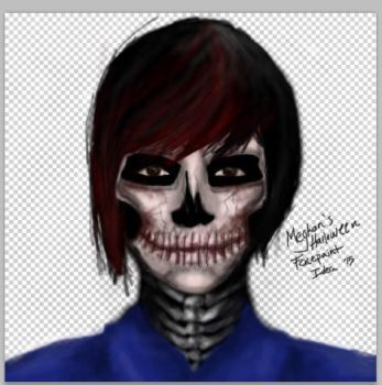 Quick Sketch for Halloween Face Paint Idea 2015 by 0hMai