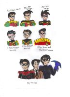 Different Styles of Robin by KessieLou