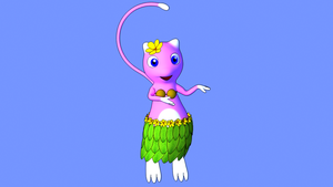 Xery the hula mew by XeryTheMew