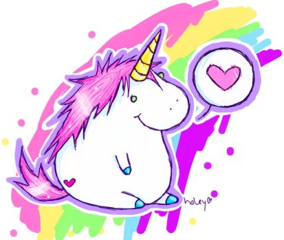 FAT UNICORN by sprinklexeater
