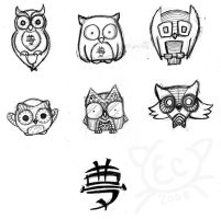 Dreams of Owls - concepts by kiryoku