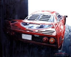 F40 - Out of the Shadows, Into the Light by ferrariartist