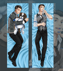(Taking orders) Dakimakura - Detroit: Become Human by MonochromeAgent