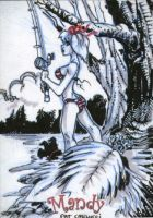 Mandy fishing sketch card by PatCarlucci