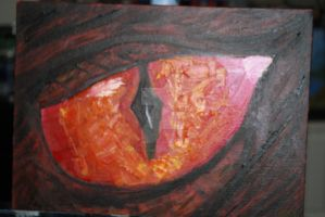 Dragon Eye- oil by JosephJODonnell