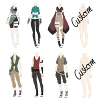 Naruto Outfit Adoptables 3 [CLOSED] by xNoakix3