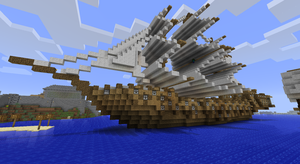 Epic Minecraft Ship by CW390
