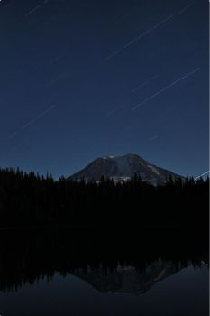 Mt Adams Star Trail by Tanager