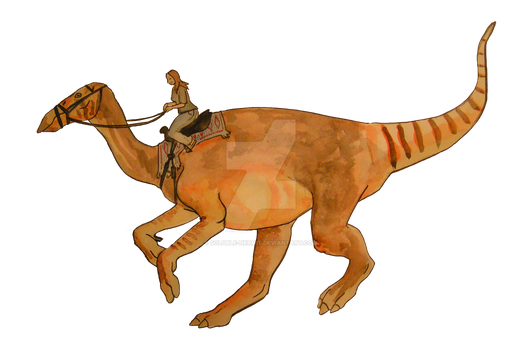 My Mount is a Hadrosaur by soluble-hermit
