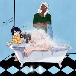 Feral Wolvie-Bath Time by ScruffyWolvster