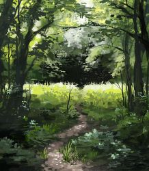 The Path Through the Woods by jjnaas