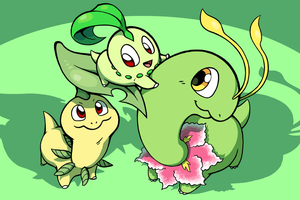 The Chikorita Family by Zerochan923600