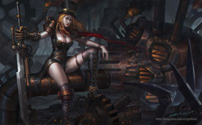 Steam Girl by GothicQ