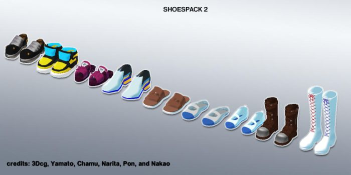 MMD shoes pack 2 update+DL by Sefina-NZ