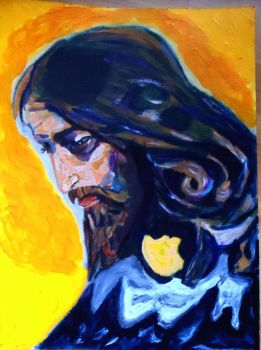 The head of Christ acrylics by mrhectormex