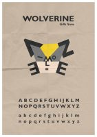 Wolverine Typeface by mattcantdraw