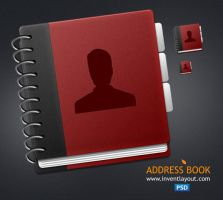 Address Book Icon PSD by atifarshad