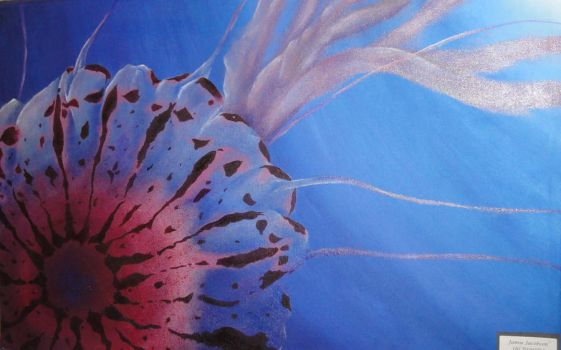 Jelly Fish: First Oil Painting by JitterDoodles