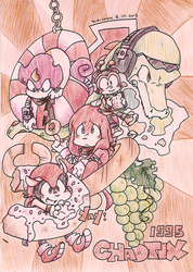 [Drawn in 2013] Knuckles Chaotix by DiachanX