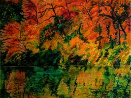 Autumn Colours Reflected by cirruscastle