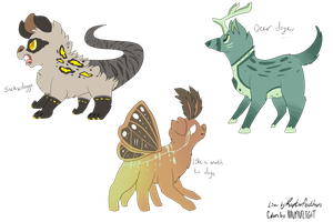 Collab Adopts (2/3 Open!) by RaptorFeathers