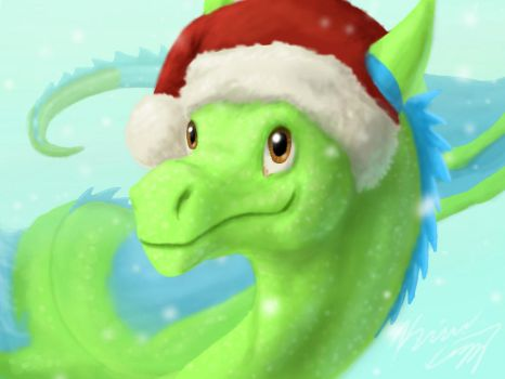 Christmas Dragon by Fadinglory