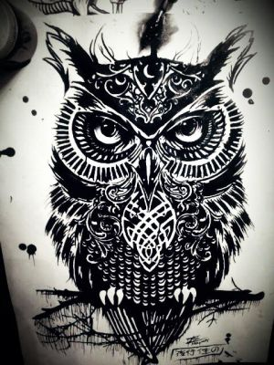 Rachel Caldwells 'Warrior Owl' by Tom Yakovlev by InkedOnyx