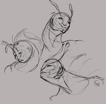 fishhead sketches by Lirony-Quill