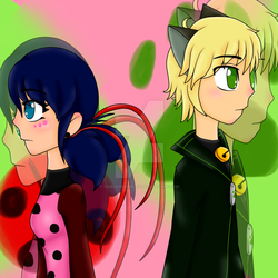 Marinette and Adrien by SamJadeHarley