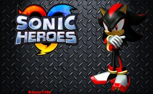Sonic Heroes Wallpaper - Shadow by Knuxy7789