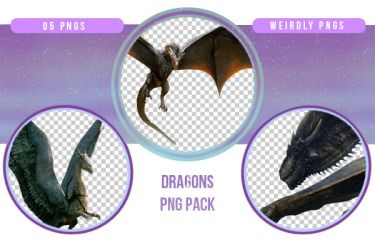 Dragons PNG Pack by Weirdly-PNGS