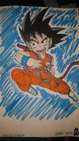 Kid Goku Fan art by ipodhero