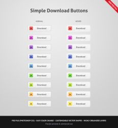 Simple Download Buttons by erigongraphics