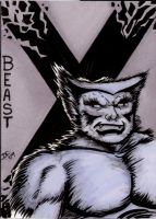 Beast sketch card by The-Standard
