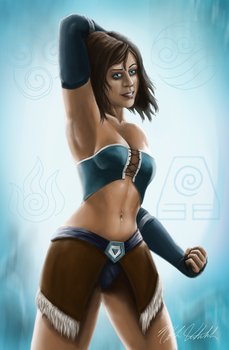 Korra by LittleFoxStudio