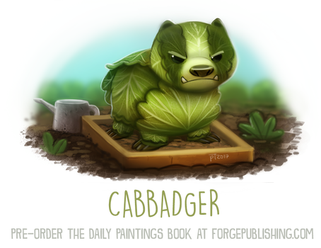Daily Paint 1637. Cabbadger by Cryptid-Creations