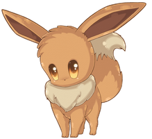 Chibi Eevee by RainbowRose912