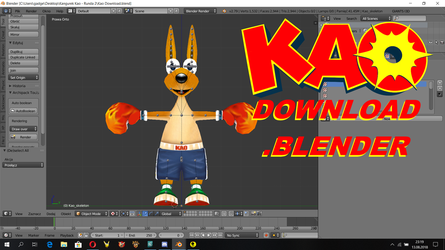 Kao the Kangaroo Model Download by Detexki99