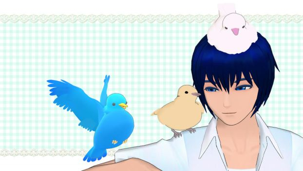 KAITO and pigeons by ruto-mmd