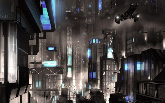 Cyber-noir by alexiuss
