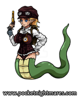 Time Traveler Nagini Ready for Action by phoenixignis