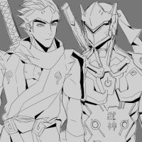 Genji and Genji by vanillatte54