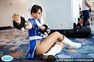 Lexy in Chun Li cosplay at AM2 by LexLexy
