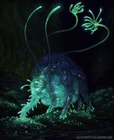Bio Luminescent Cave Dweller by AlexKonstad